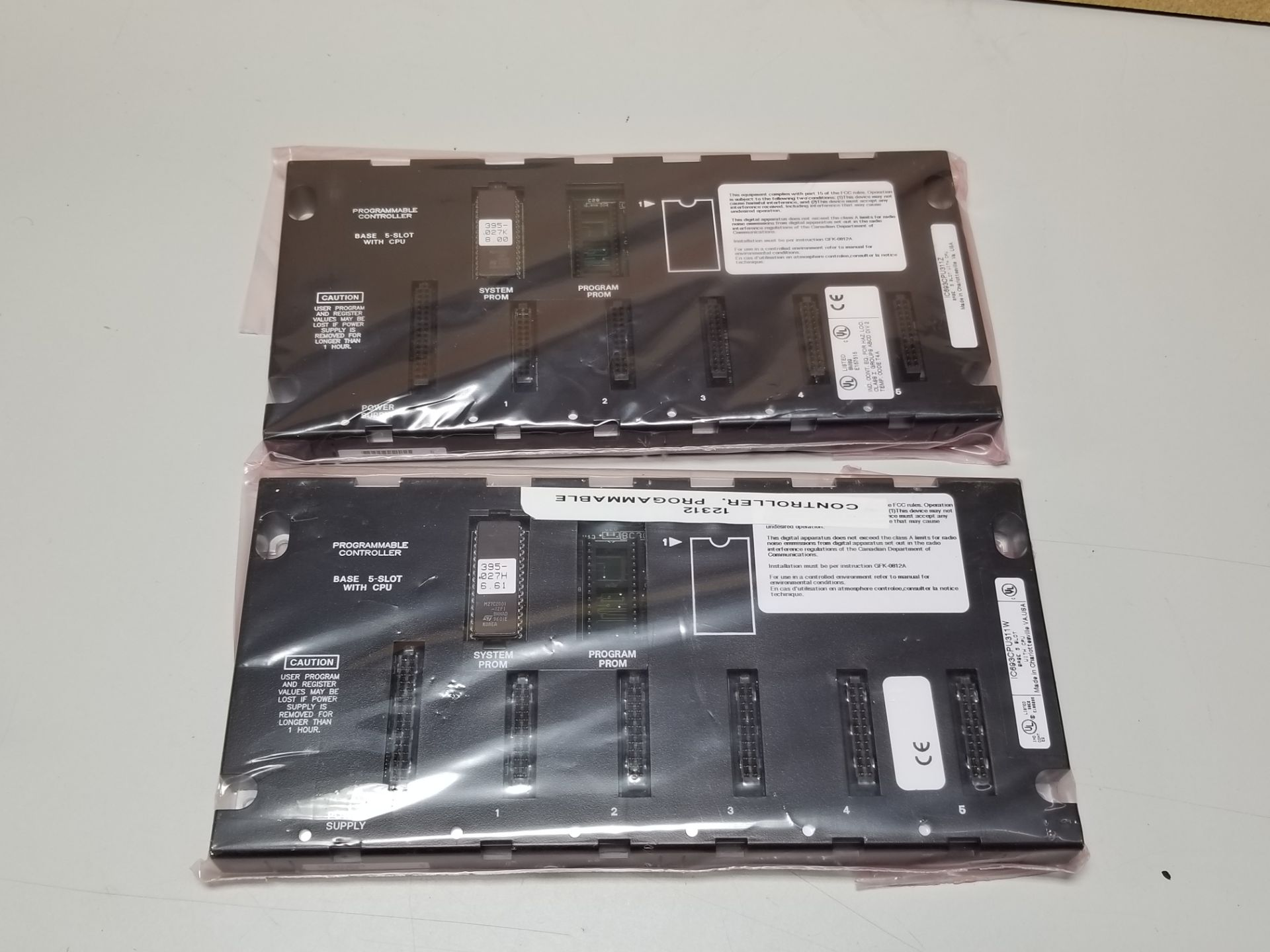 Lot 52 - LOT OF UNUSED GE FANUC PLC CHASSIS RACKS WITH CPU'S
