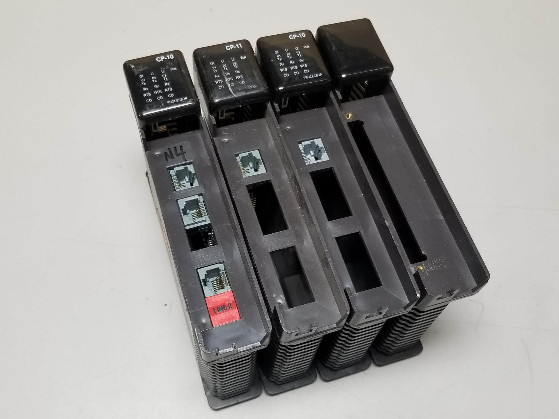 Lot 8 - LOT OF 4 KINGFISHER PLC CPU & BLANK MODULES