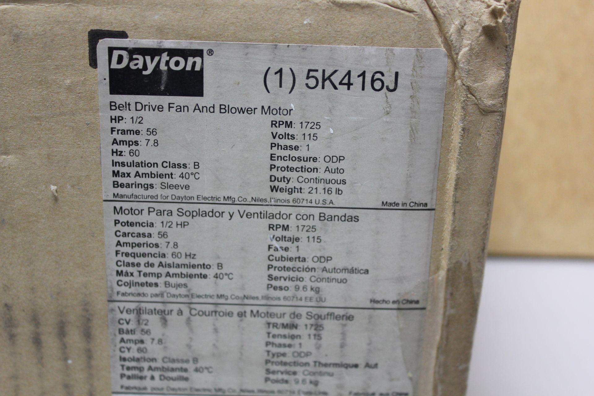 Lot 653 - NEW DAYTON BELT DRIVE FAN AND BLOWER MOTOR