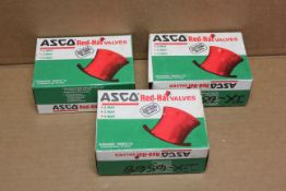 LOT OF 3 NEW ASCO RED HAT SOLENOID VALVE COILS