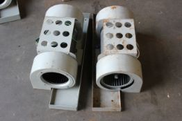 LOT OF 2 INDUSTRIAL BLOWERS WITH MOTORS