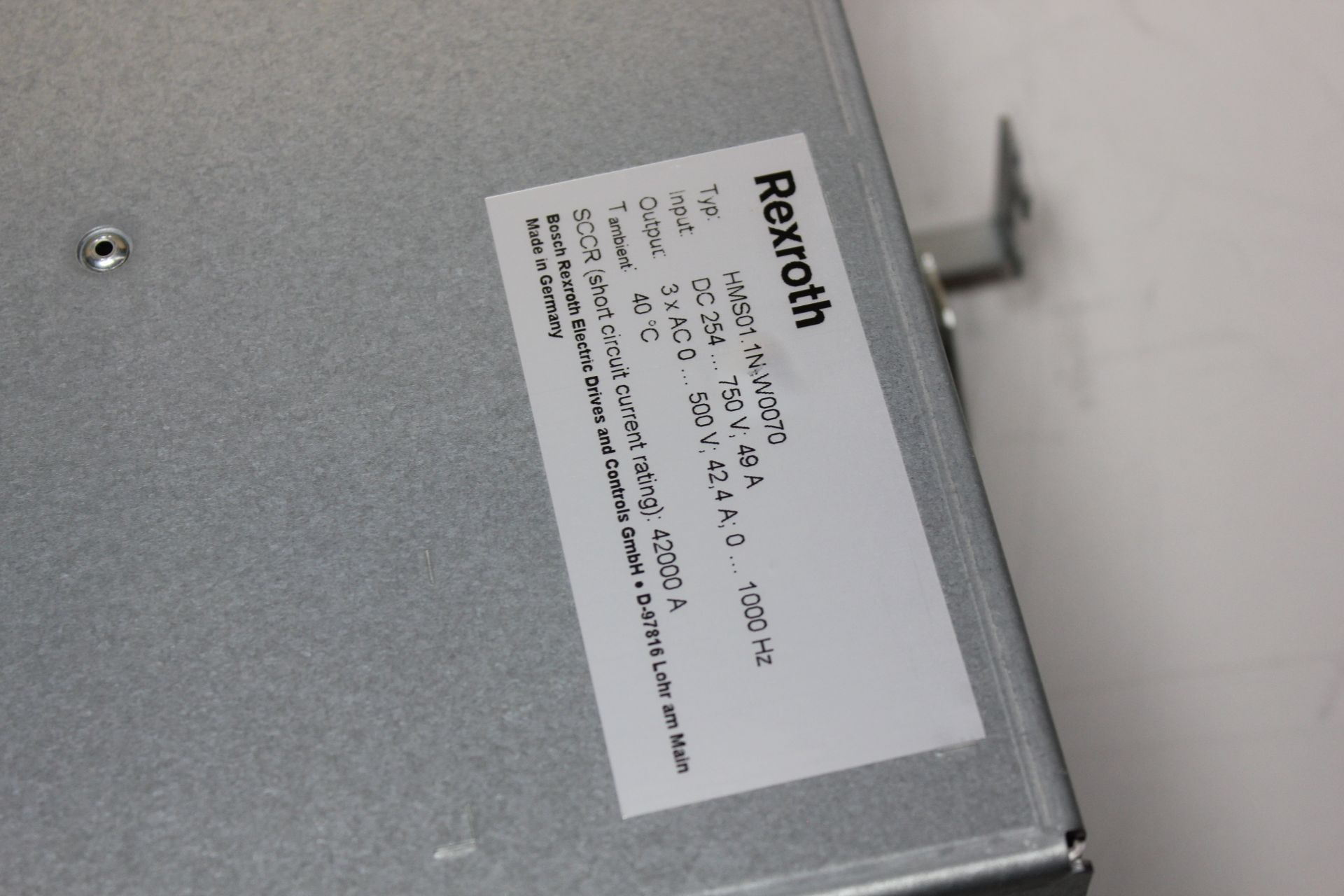REXROTH INDRADRIVE M SINGLE AXIS INVERTER SERCOS MODULE - Image 6 of 7