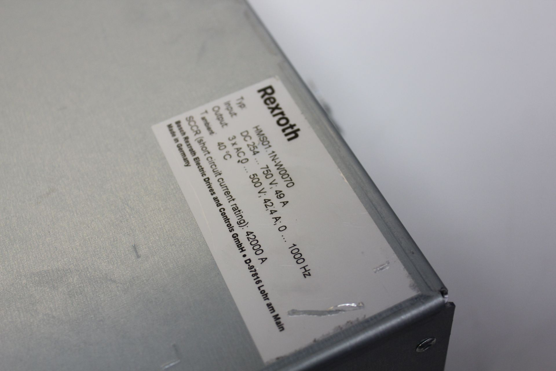 Lot 184 - REXROTH INDRADRIVE M SINGLE AXIS INVERTER WITH SERCOS MODULE