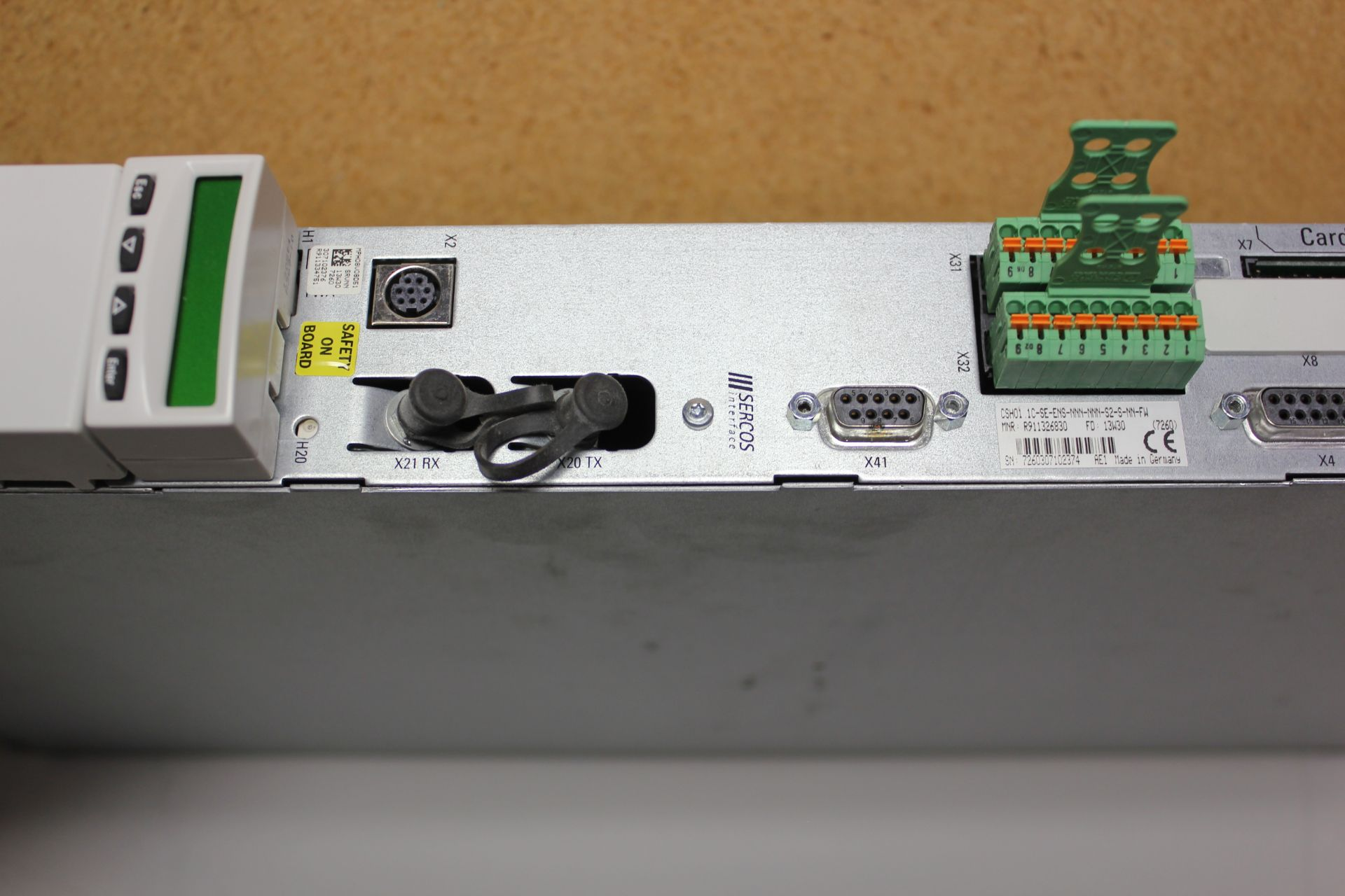 Lot 182 - REXROTH INDRADRIVE M SINGLE AXIS INVERTER WITH SERCOS MODULE