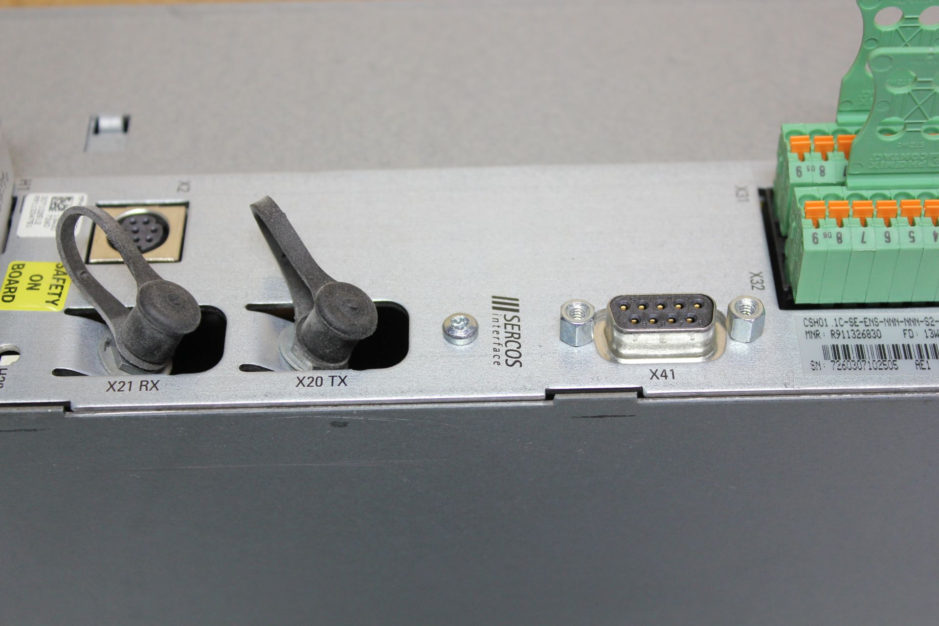 REXROTH INDRADRIVE M SINGLE AXIS INVERTER SERCOS MODULE - Image 3 of 7