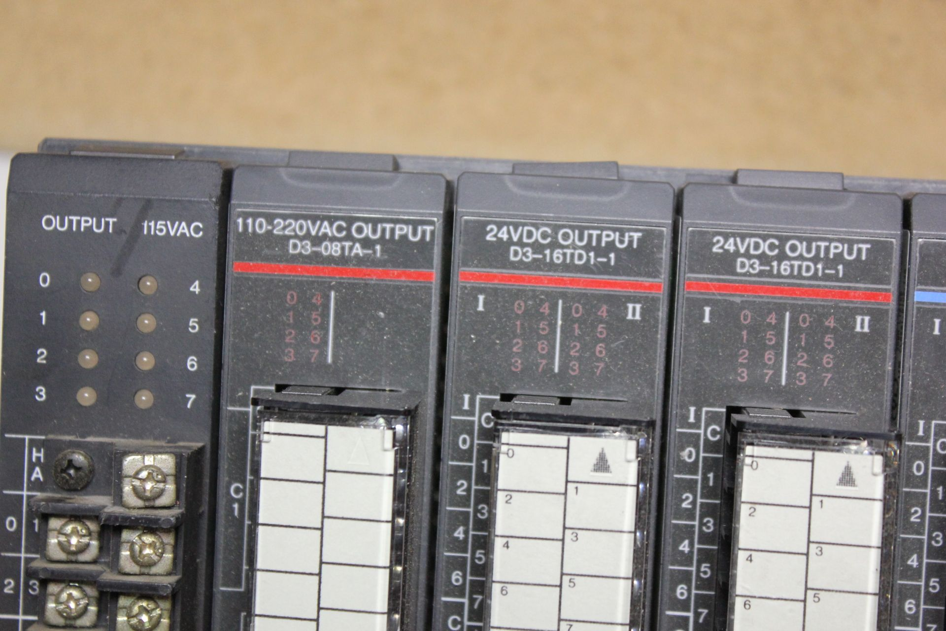 Lot 34 - KOYO DIRECT LOGIC 305 PLC CHASSIS WITH 10 MODULES