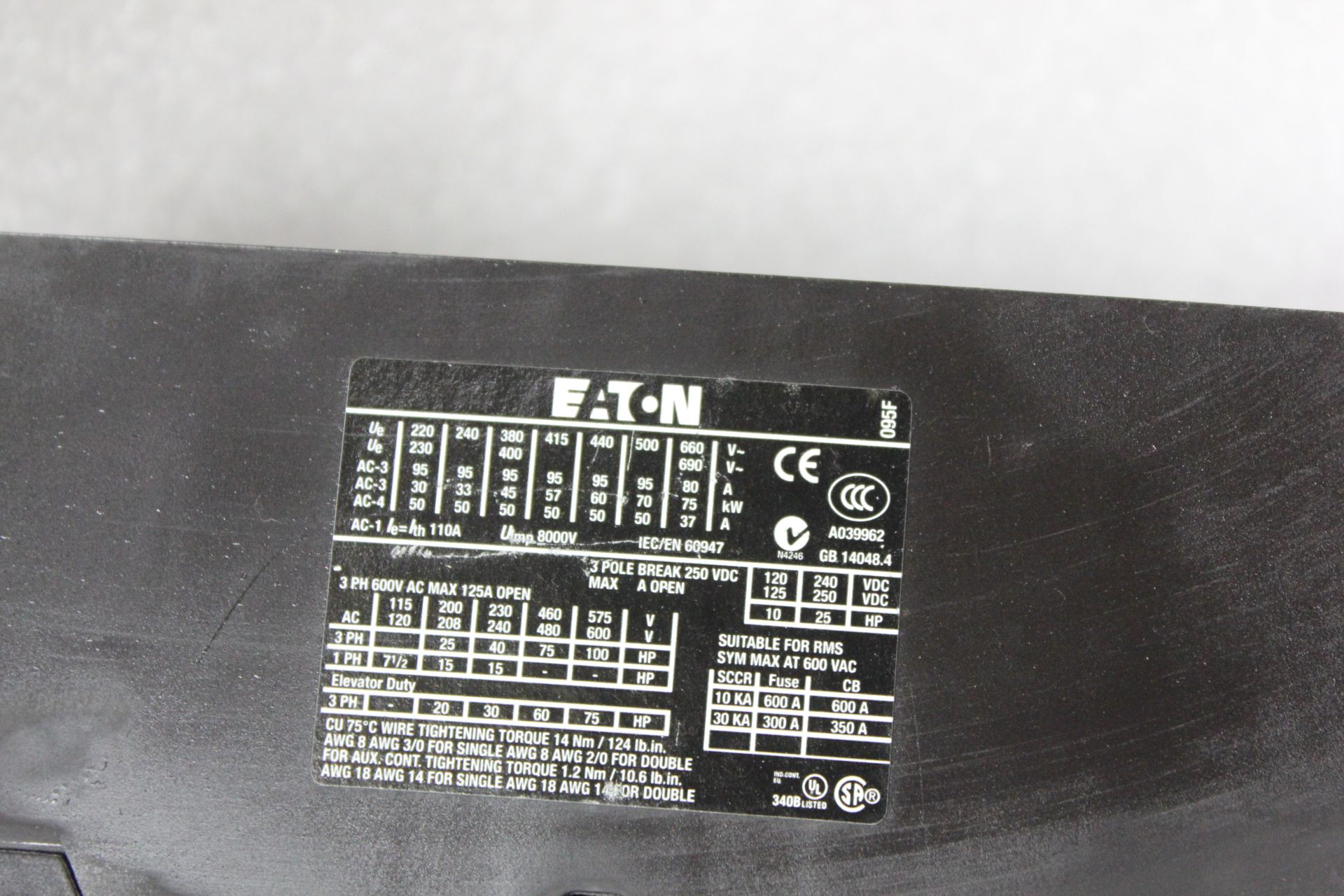 EATON 125A CONTACTOR - Image 4 of 6