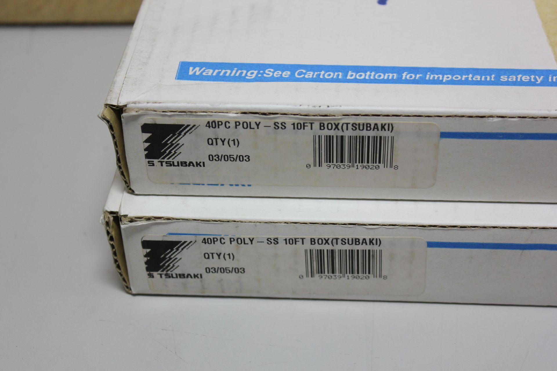 Lot 37 - 2 NEW BOXES OF TSUBAKI ROLLER CHAIN