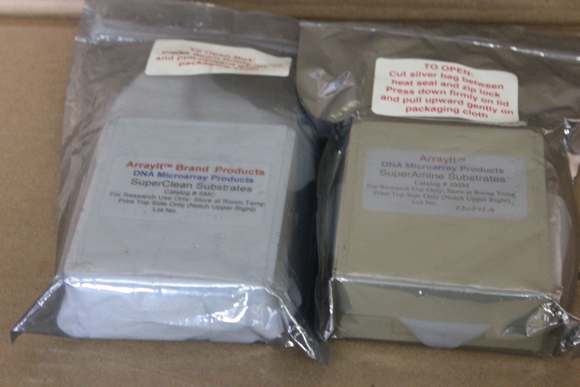 LOT OF 2 NEW ARRAYIT DNA MICROARRAY CASSETTES