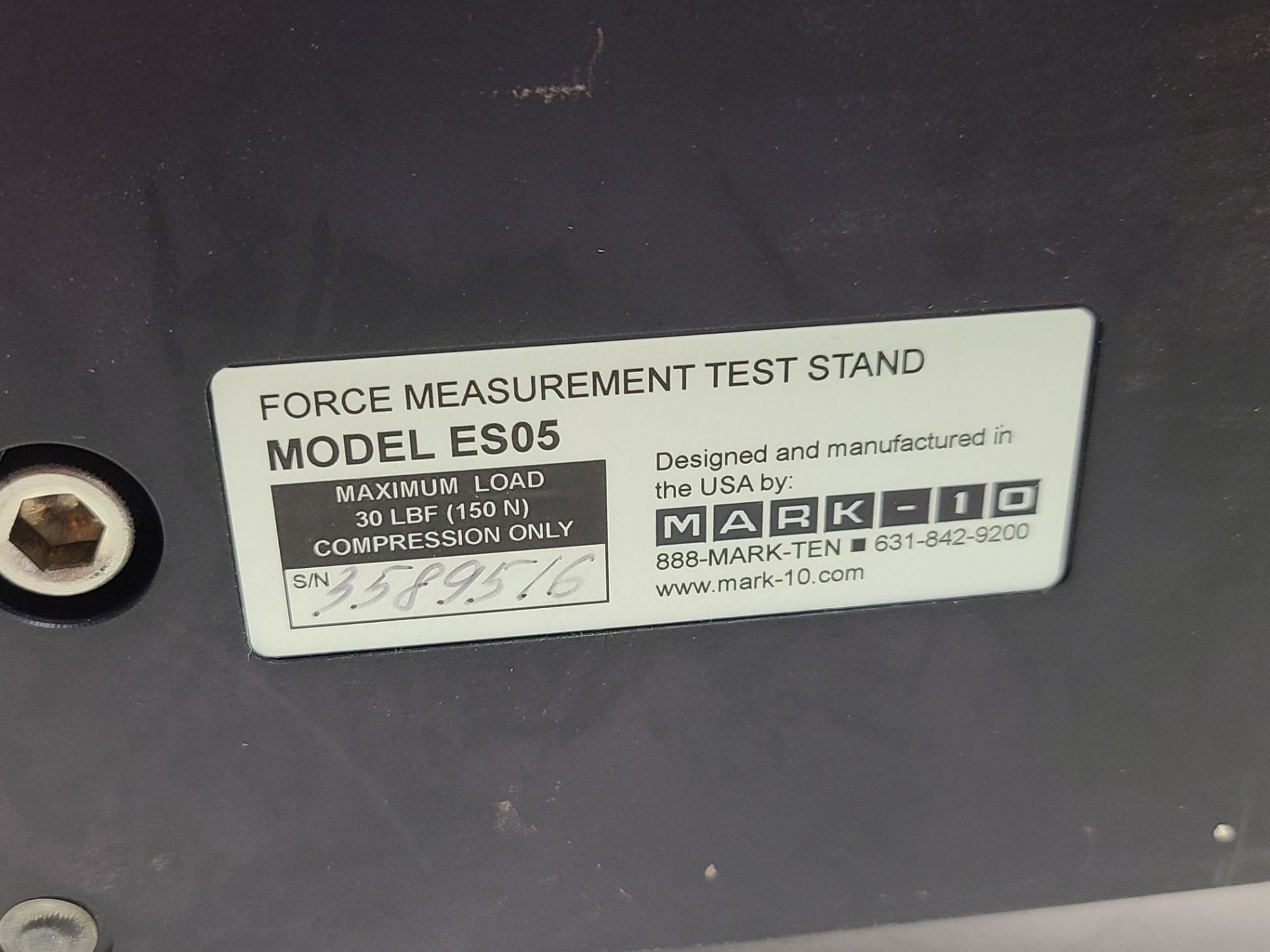 MARK-10 FORCE MEASUREMENT TEST STAND & TRANSDUCER - Image 5 of 8