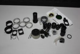 LOT OF MICROSCOPE ACCESSORIES