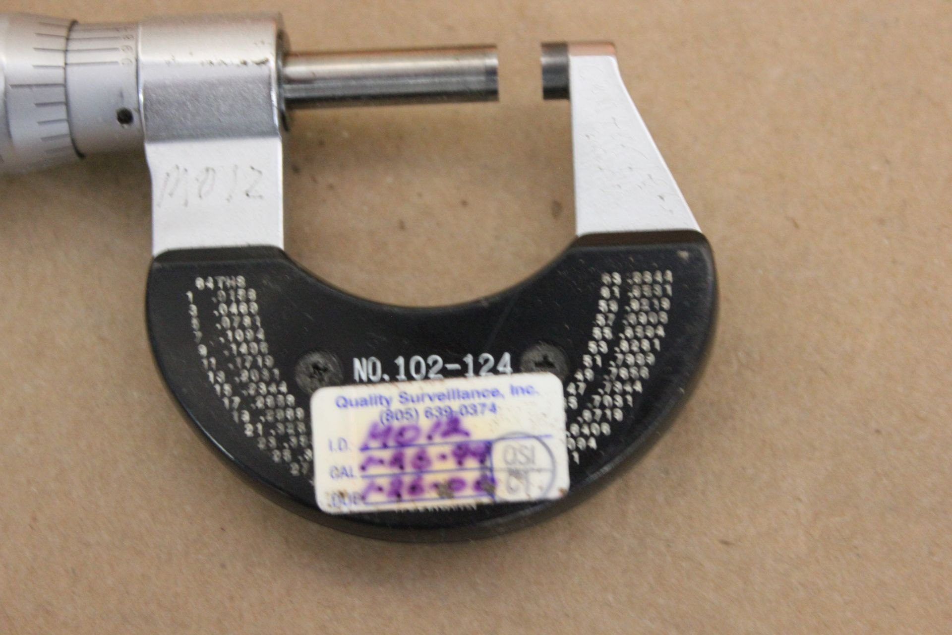 "MITUTOYO 0-1"" MICROMETER IN CASE - Image 3 of 3"