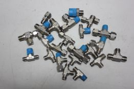 LOT OF COMPRESSION FITTINGS - SWAGELOK, CAJON, ETC