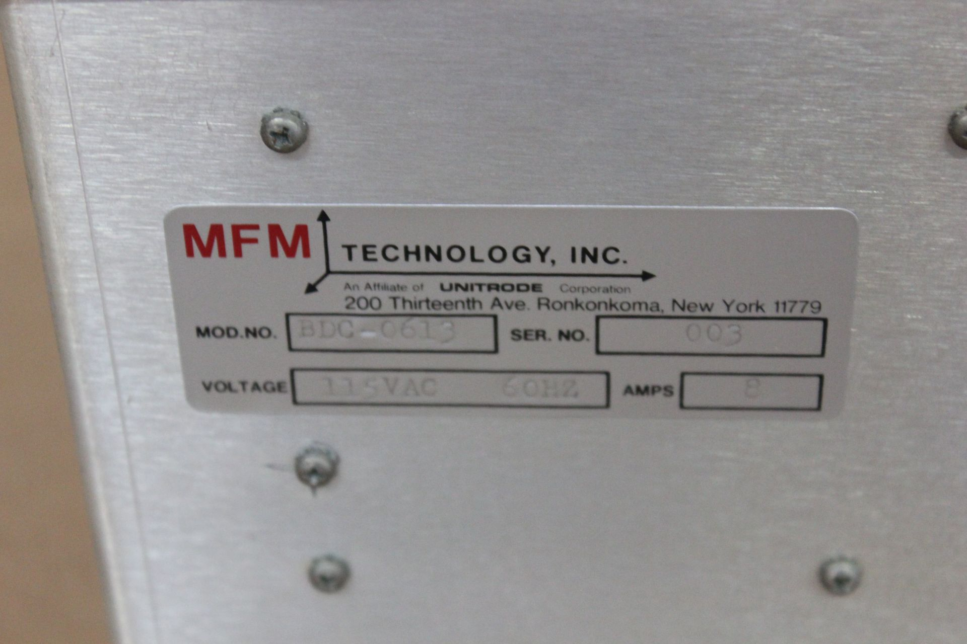 MFM TECHNOLOGY SPEED CONTROLLER - Image 3 of 3