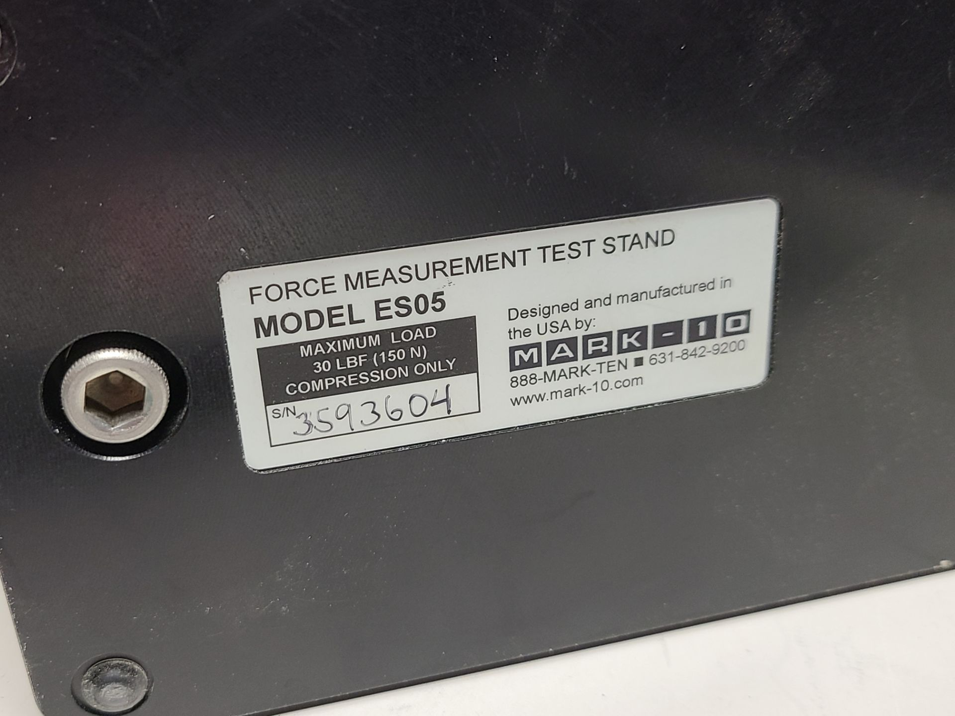MARK-10 FORCE MEASUREMENT TEST STAND & TRANSDUCER - Image 4 of 7