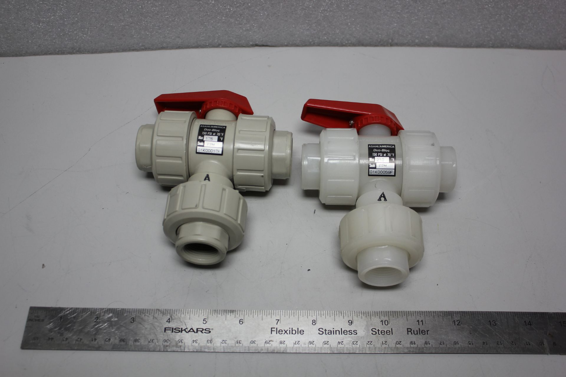 LOT OF UNUSED ASAHI BALL VALVES