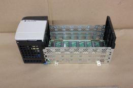 ALLEN BRADLEY CONTROLLOGIX PLC RACK & POWER SUPPLY