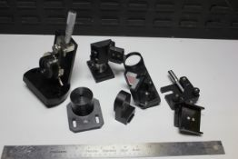 LOT OF LAB ALSER OPTIC PARTS AND MOUNTS