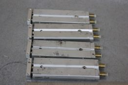 LOT OF SMC GUIDED PNEUMATIC CYLINDERS