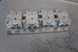 LOT OF SMC LINEAR SLIDE TABLE PNEUMATIC CYLINDERS