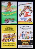 CARRY ON AGAIN DOCTOR (1969), CARRY ON ABROAD (1972), CARRY ON GIRLS (1973), CARRY ON BEHIND (1975)