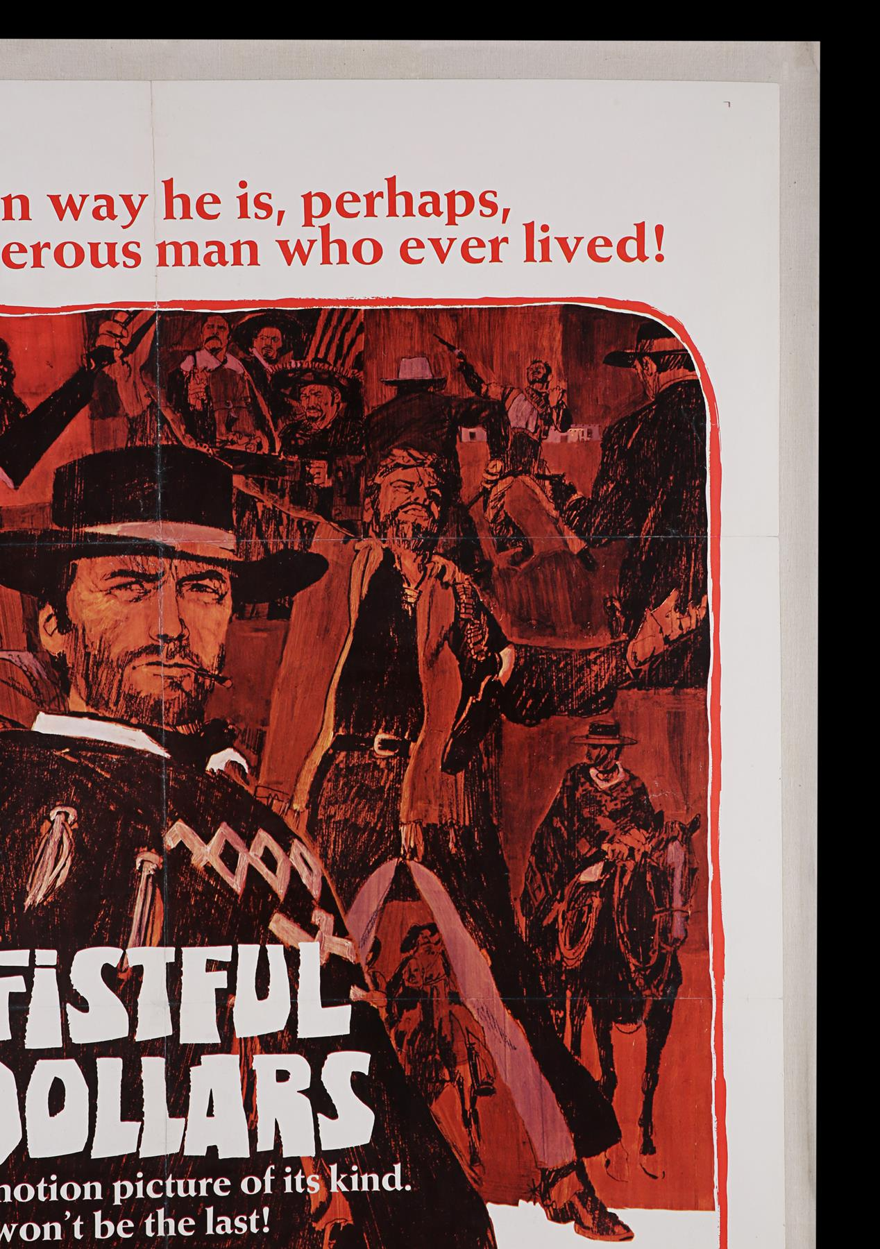 A FISTFUL OF DOLLARS (1967) - US One-Sheet, 1967 - Image 3 of 5