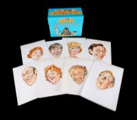 CARRY ON (2003) - Eight Original Hand-drawn Portrait Artworks and DVD Boxset, 2003
