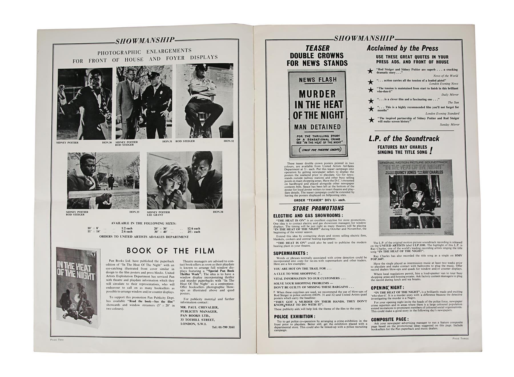 IN THE HEAT OF THE NIGHT (1967) - British Exhibitors' Campaign Book, 1967, Autographed by Sidney Poi - Image 2 of 6