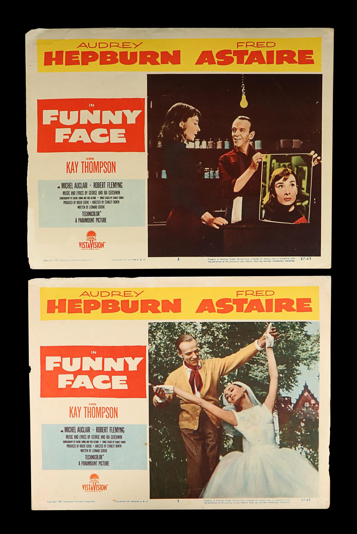 FUNNY FACE (1957) - Eight US Lobby Cards, 1957 - Image 2 of 5