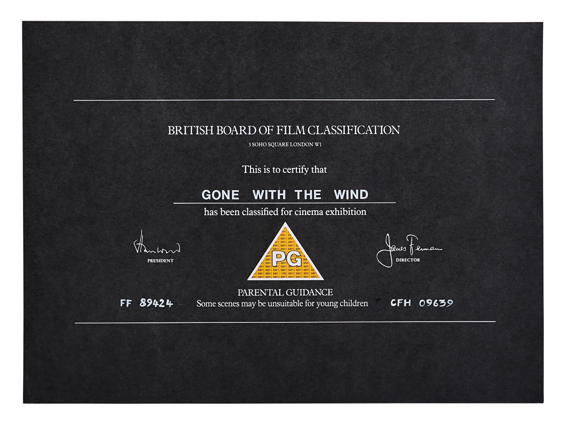 VARIOUS PRODUCTIONS - BBFC Certificates Romance Films - Image 7 of 7