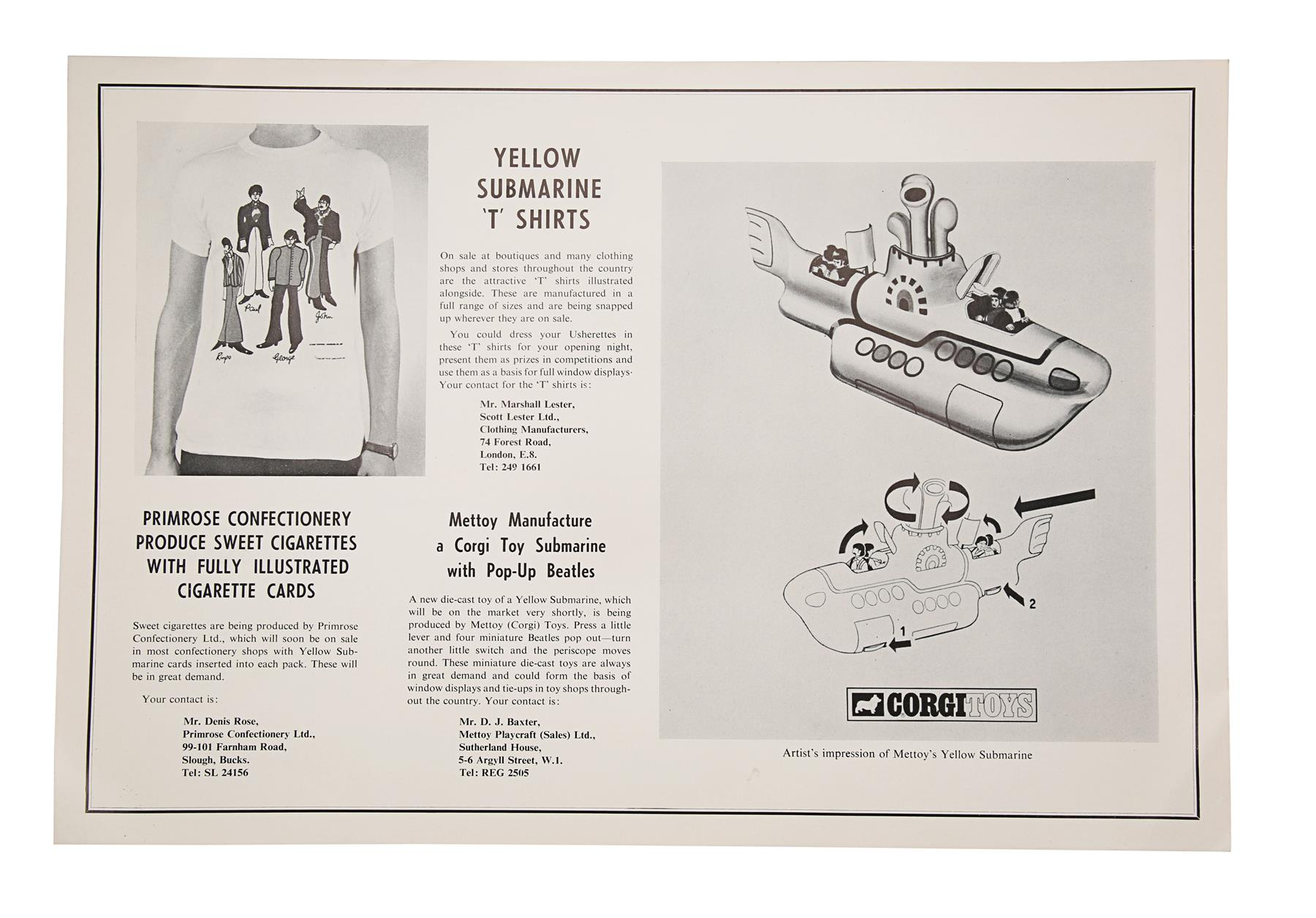 YELLOW SUBMARINE (1968) - British Exhibitors' Campaign Book and Two Advertising Supplements, 1968 - Image 4 of 7