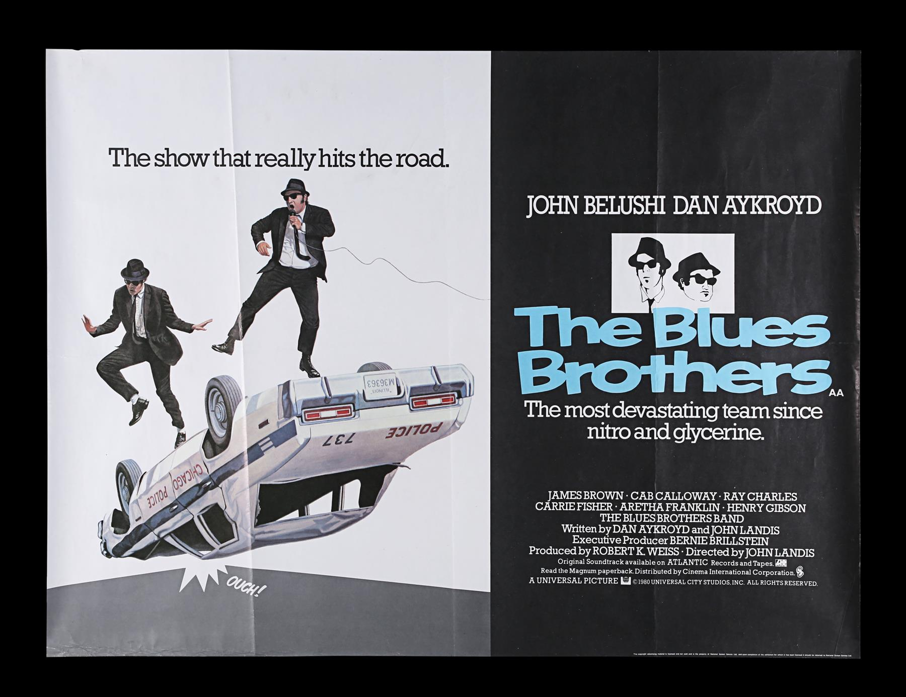 THE BLUES BROTHERS (1980) - UK Quad, 1980