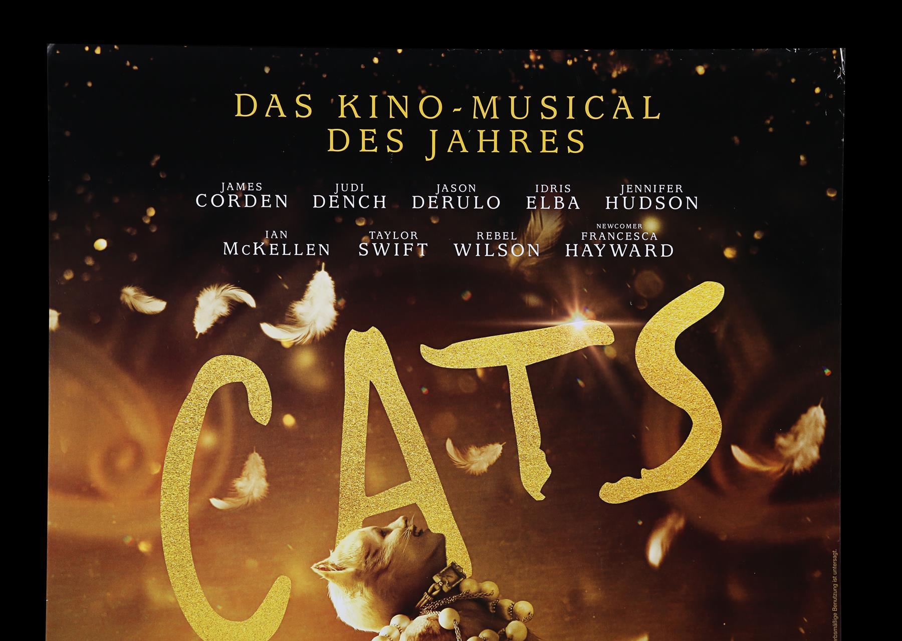 CATS (2019) - Poster, 2019, Autographed by Jason Derulo and Francesca Hayward - Image 2 of 6