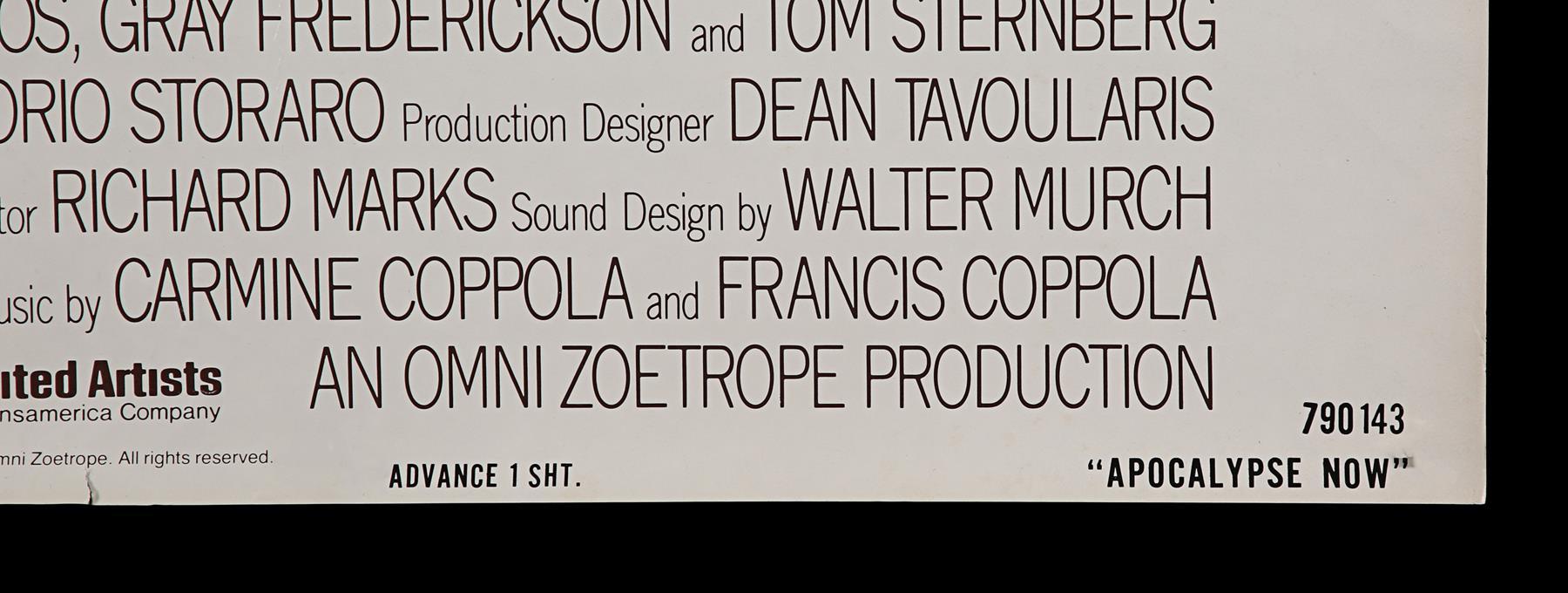 APOCALYPSE NOW (1979) - US One-Sheet, 1979 - Image 3 of 5