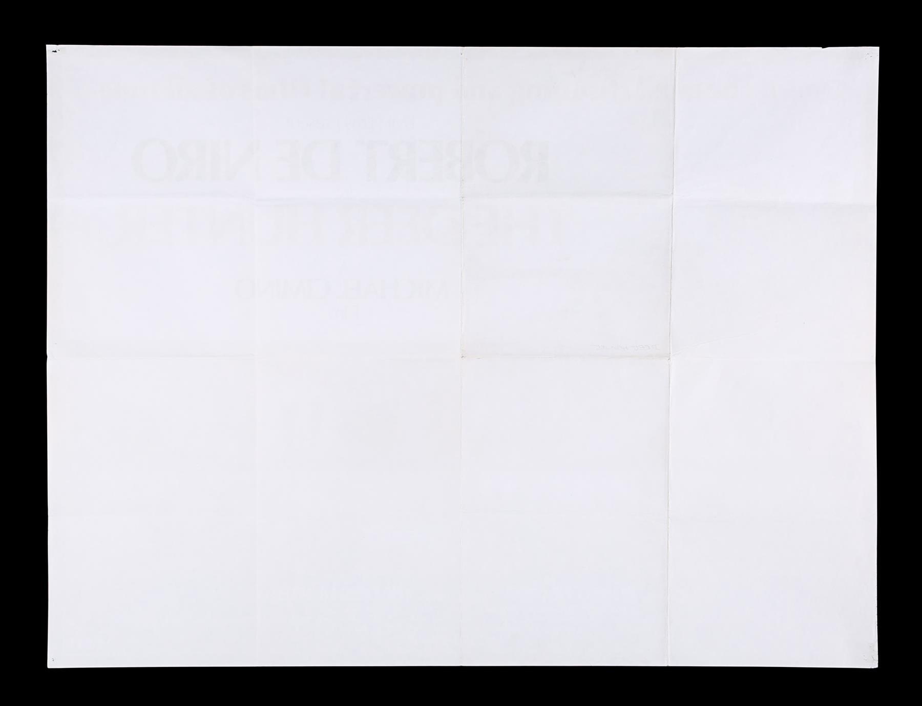 DEER HUNTER (1978), PLATOON (1986), RAGING BULL (1980) - Two UK Quads, US One-Sheet, 1978, 1980, 198 - Image 5 of 7