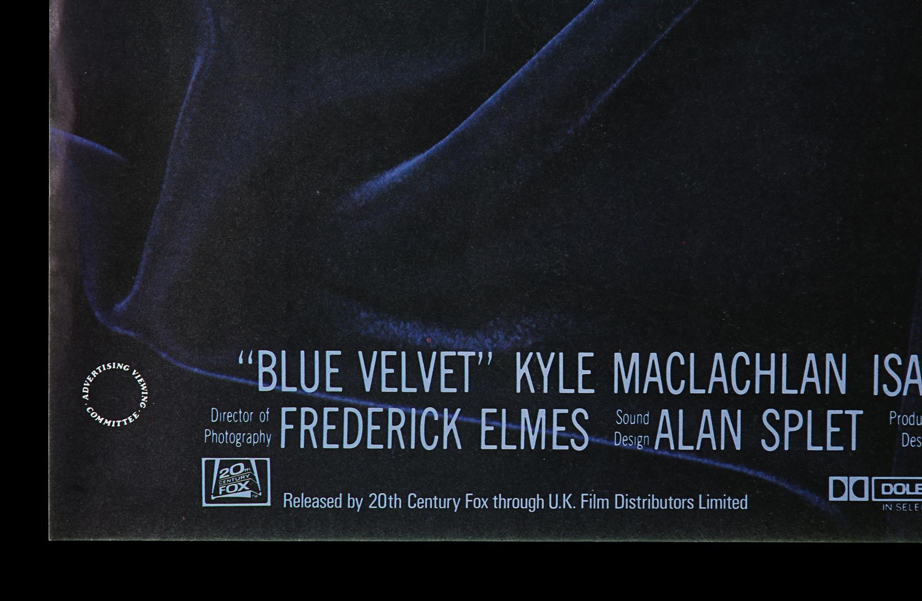 BLUE VELVET (1986) - UK Quad, 1986 - Image 5 of 6