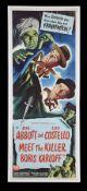 ABBOTT AND COSTELLO MEET THE KILLER, BORIS KARLOFF (1949) - US Insert, 1949