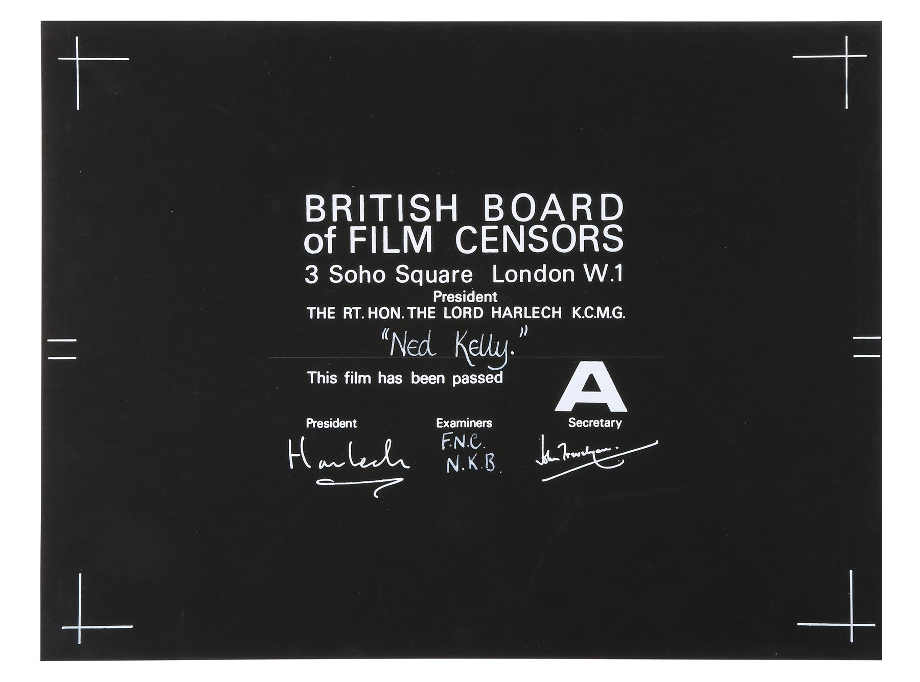 VARIOUS PRODUCTIONS - BBFC Certificates of British Classics - Image 4 of 6