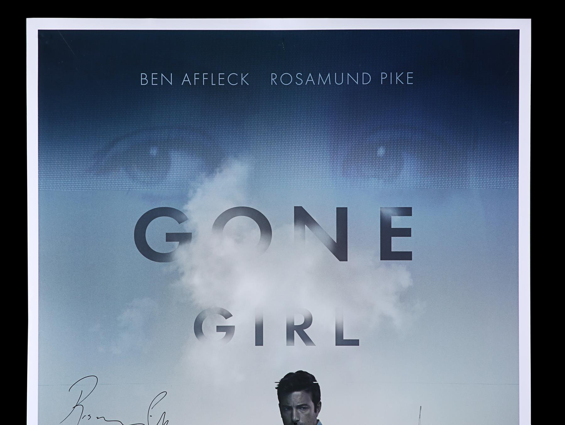 GONE GIRL (2014) - Poster Autographed by David Fincher and Rosamund Pike - Image 2 of 7