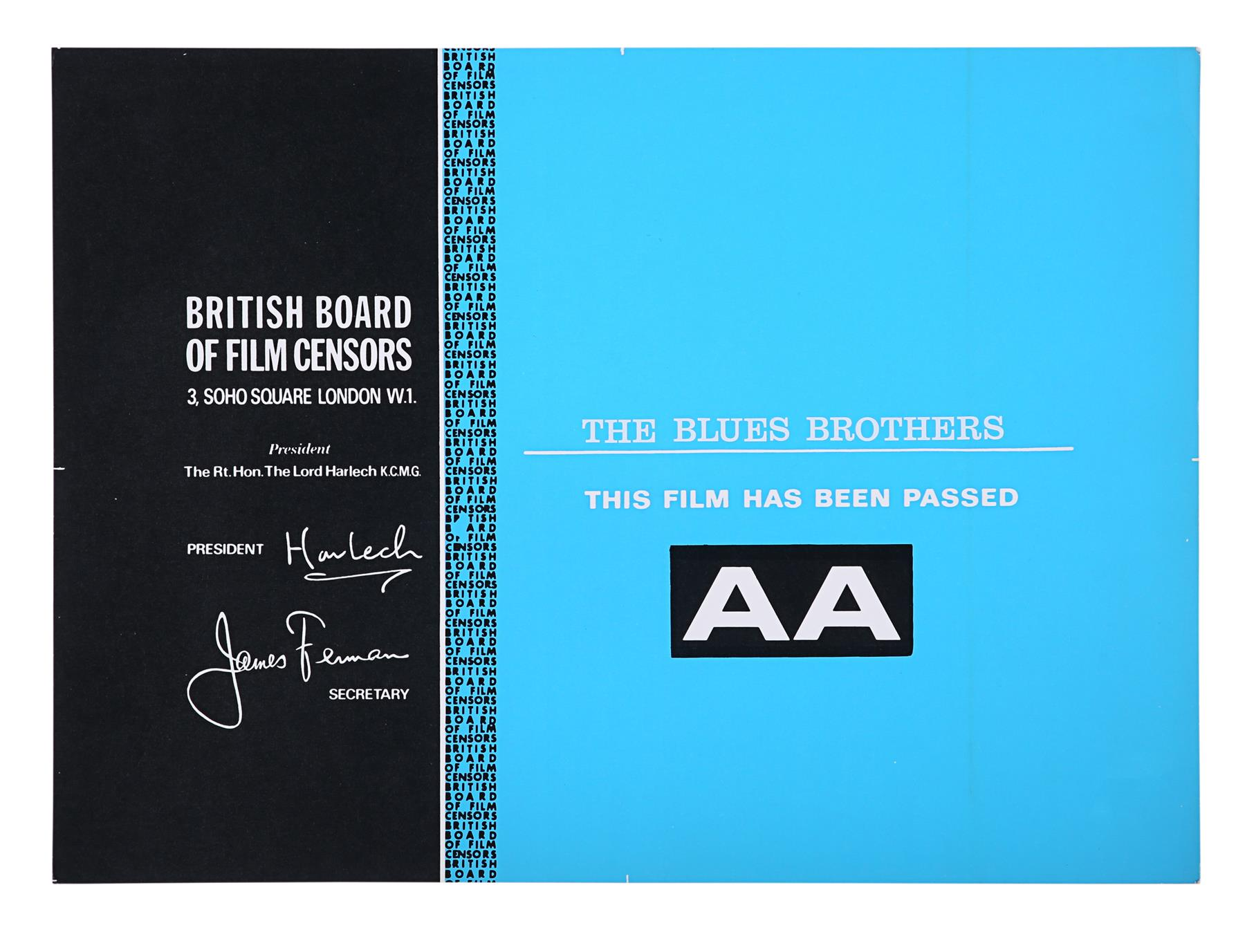 THE BLUES BROTHERS (1980), ANIMAL HOUSE (1978) - BBFC Certificates John Landis, 1978, 1980 - Image 3 of 3