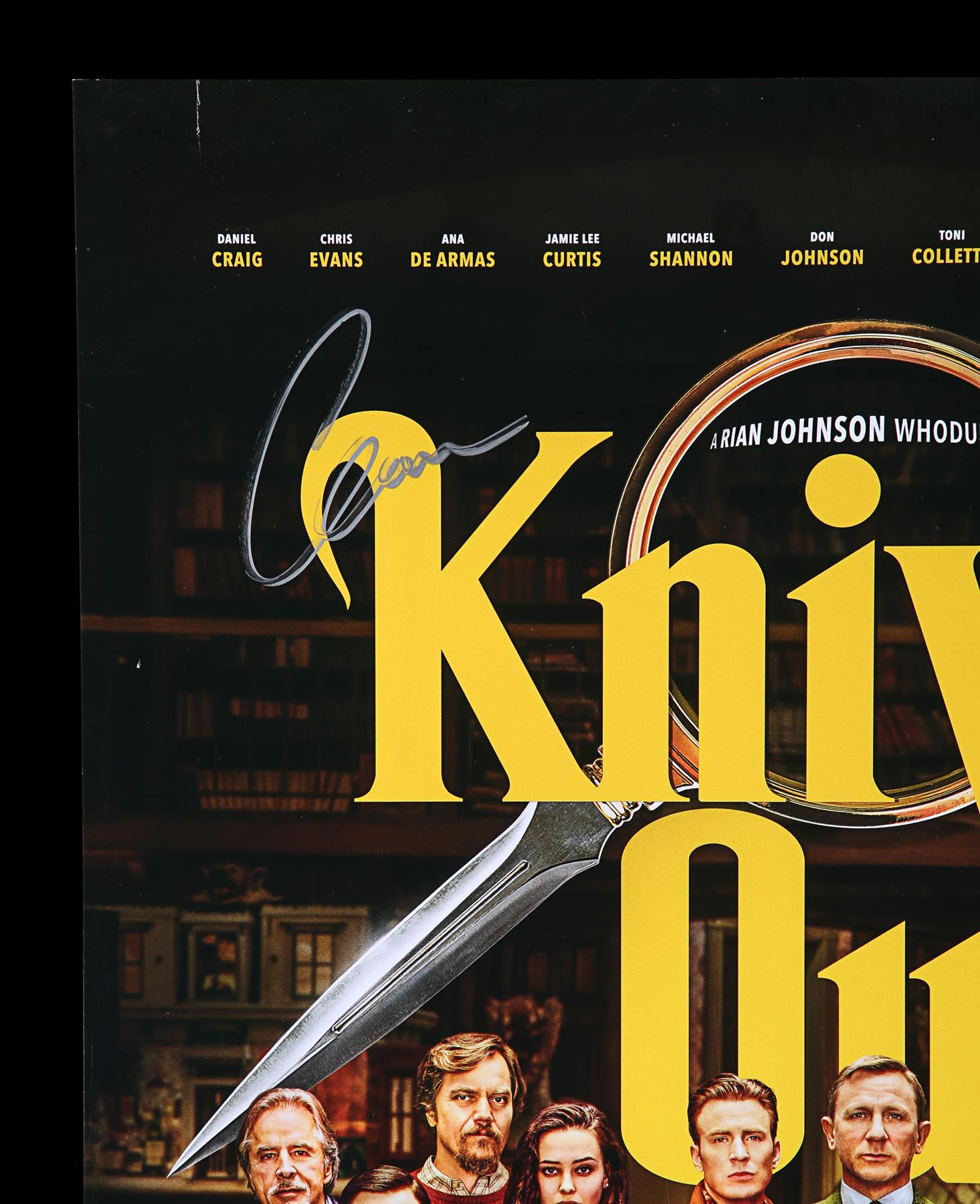 KNIVES OUT (2019) - Poster, 2019, Autographed by Daniel Craig, Chris Evans and Others - Image 2 of 7
