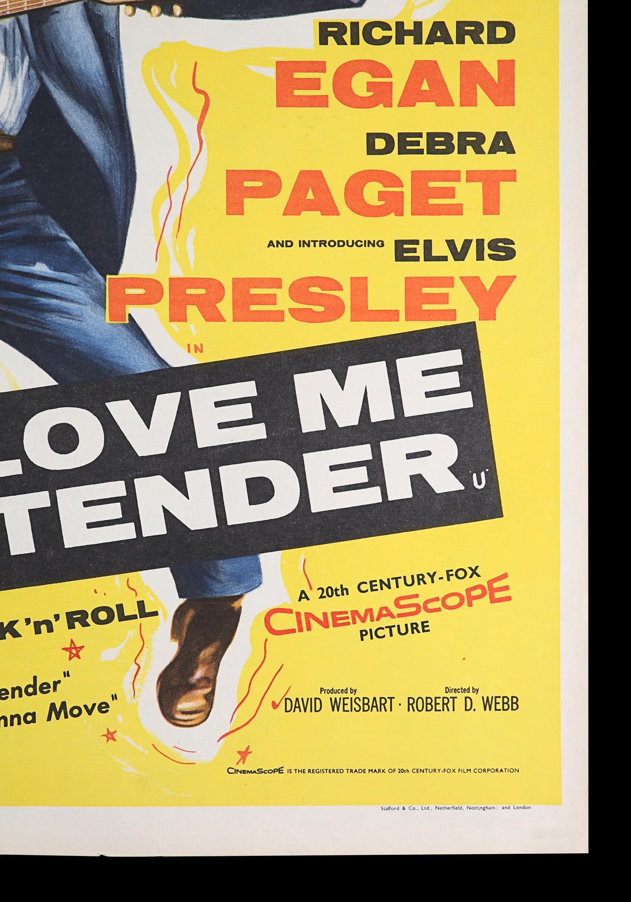 LOVE ME TENDER (1956) - UK Double Crown, 1956 - Image 4 of 6