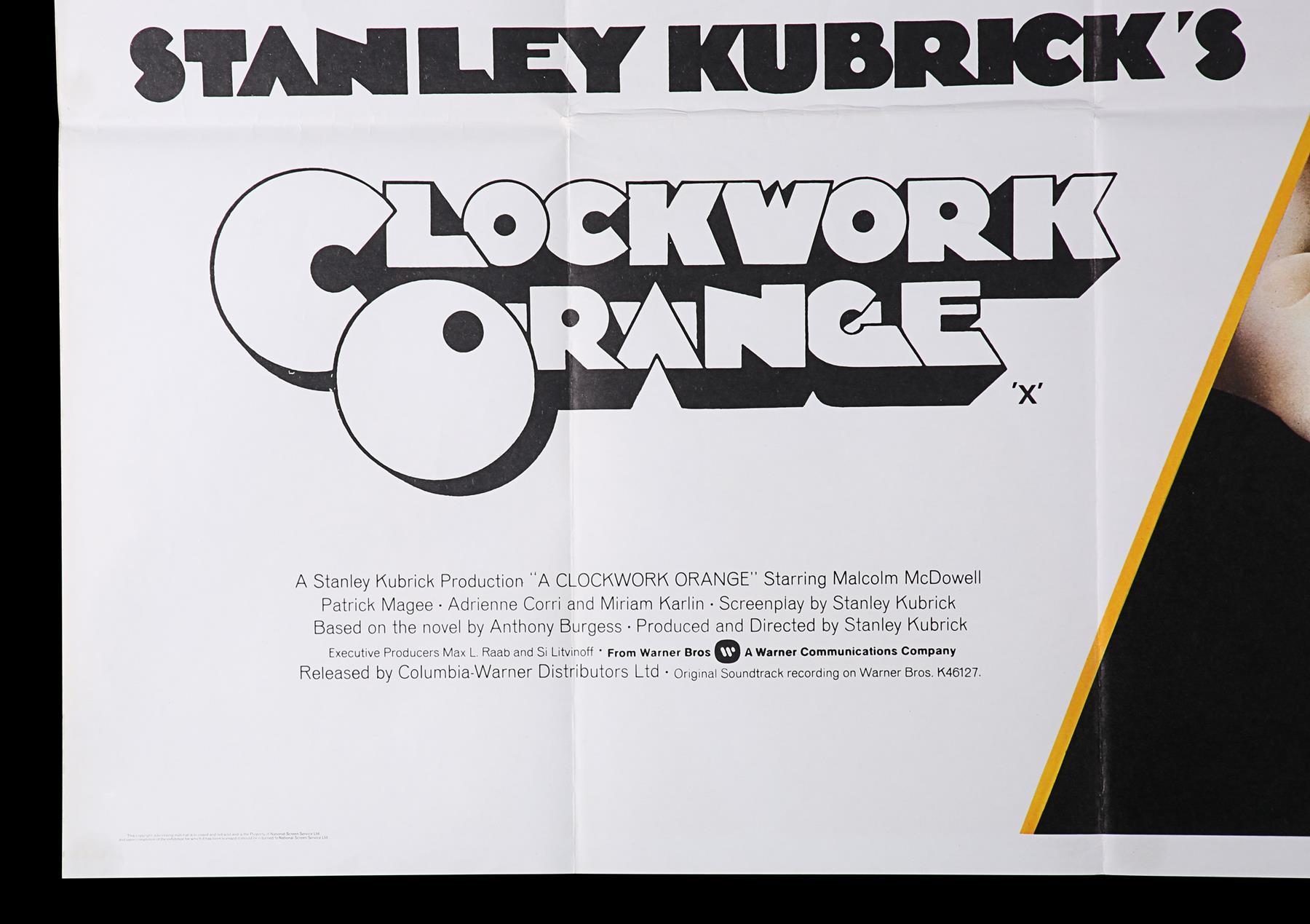 A CLOCKWORK ORANGE (1971) - UK Quad, 1971 - Image 5 of 6