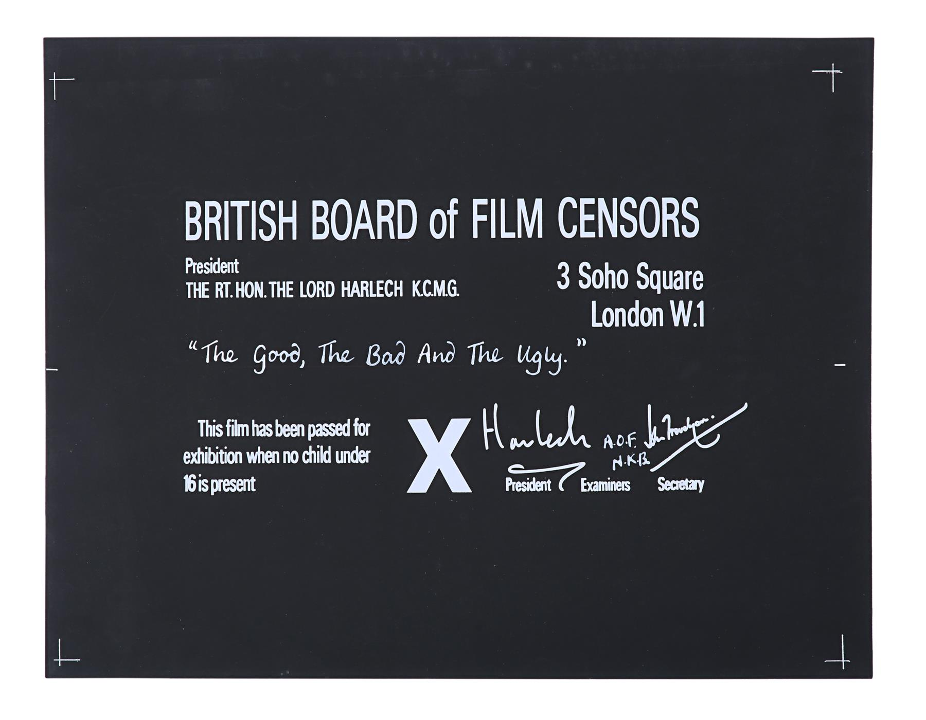 VARIOUS WESTERN PRODUCTIONS - BBFC Certificates Clint Eastwood Westerns - Image 3 of 5