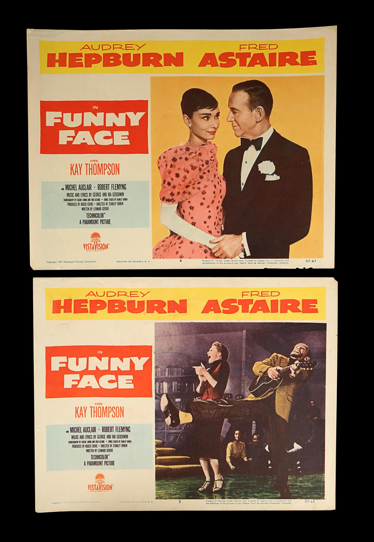 FUNNY FACE (1957) - Eight US Lobby Cards, 1957 - Image 5 of 5