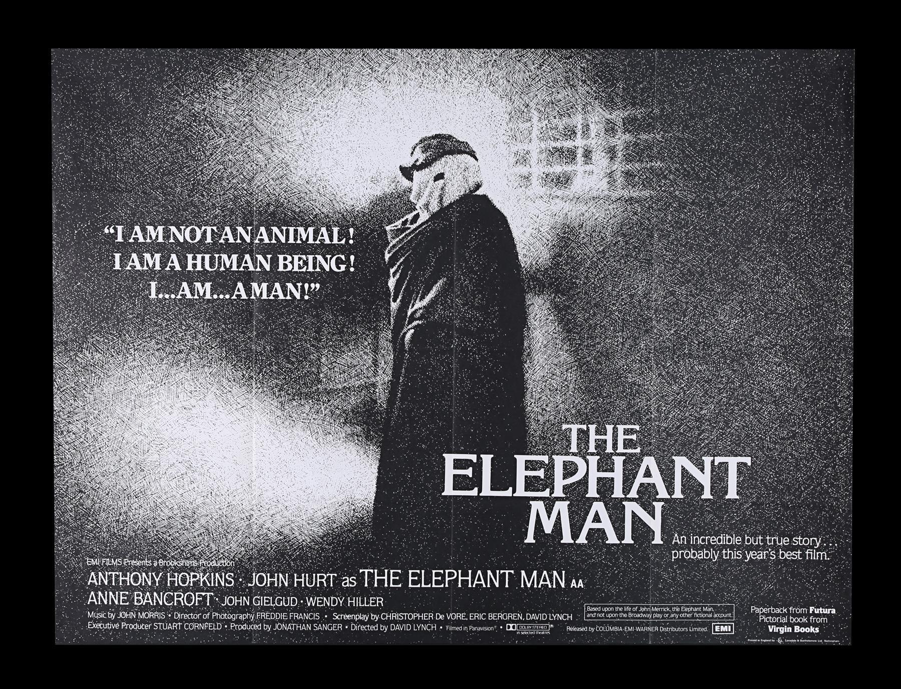 ELEPHANT MAN (1980) - UK Quad, 1980