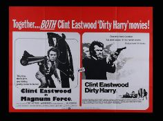 MAGNUM FORCE (1973) / DIRTY HARRY (1971) - UK Quad, 1975