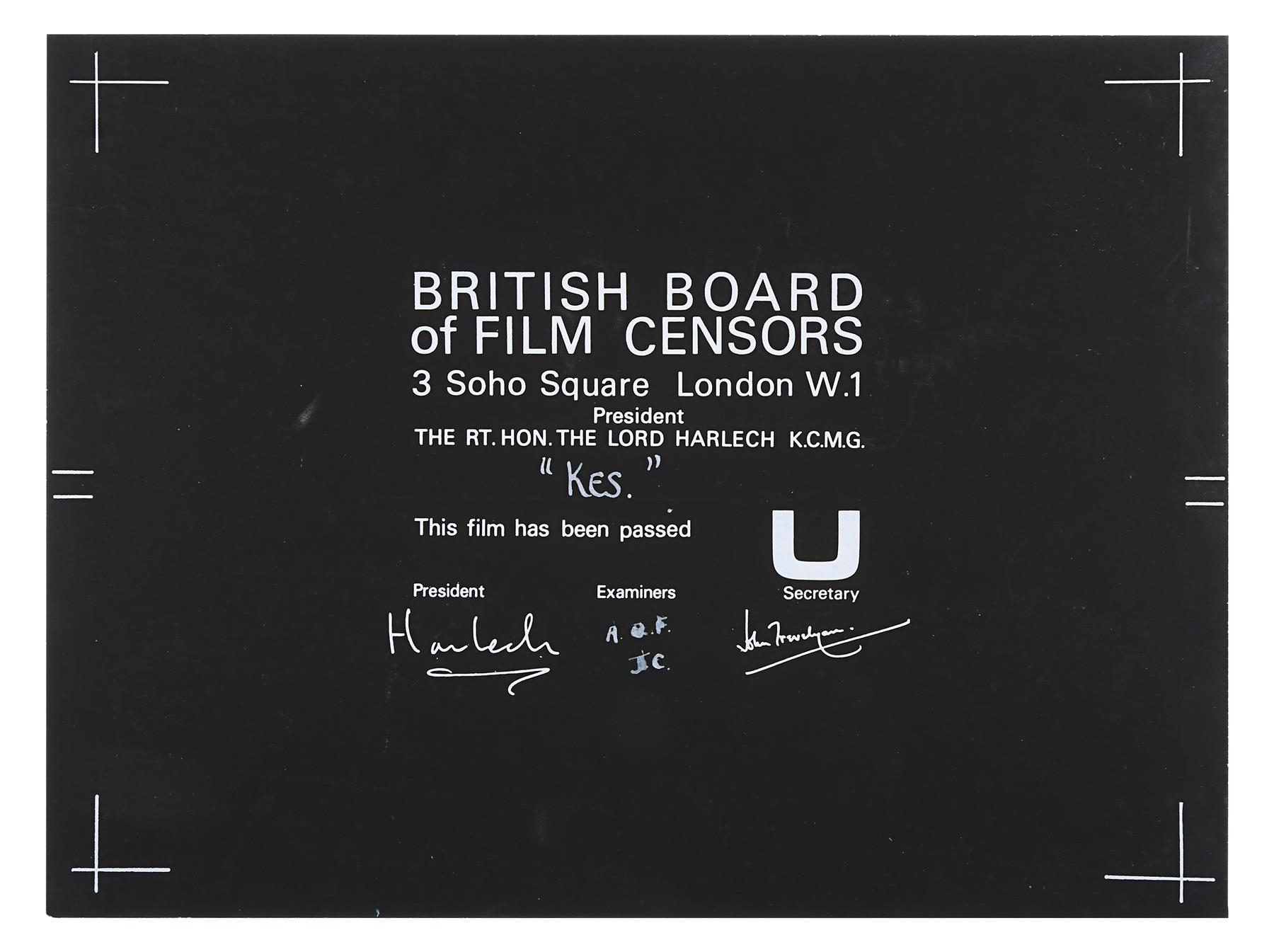 VARIOUS PRODUCTIONS - BBFC Certificates of British Classics - Image 6 of 6