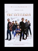 THE GENTLEMEN (2019) - US One-Sheet, 2019, Autographed by Charlie Hunnam, Hugh Grant and Others