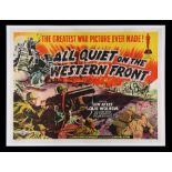 ALL QUIET ON THE WESTERN FRONT (1930) - UK Quad, 1950